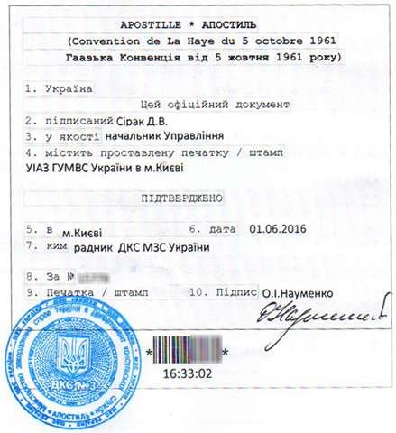Свидетельство о браке - русский-немецкий перевод