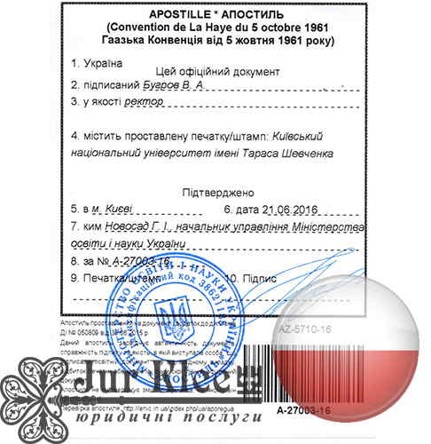 Apostille of educational documents in Poland